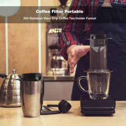 Folding coffee double-layer filter
