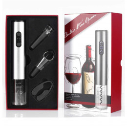 Four-piece electric wine corkscrew