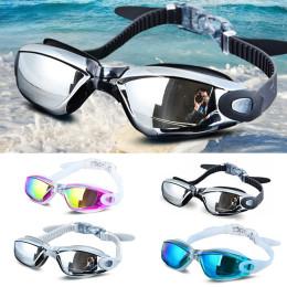 Professional Silicone Swimming Goggles Anti-fog Electroplating UV Swimming Glasses