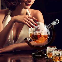 Glass globe modeling instrument decanter