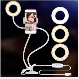 Selfie Ring Light with Gooseneck Stand & Cell Phone Holder