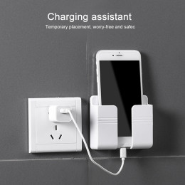 Wall mounted mobile phone holder