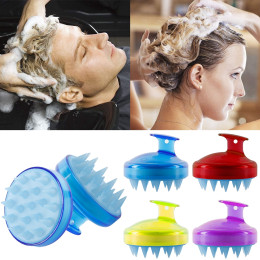 Hair Scalp Massager Shampoo Soft Silicone Brush