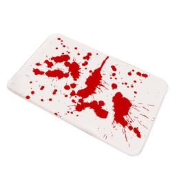 Halloween bloody bath mat