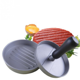 Delidge 1 Set Round Shape Hamburger Press Aluminum Alloy