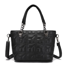 Soft PU Leather Handbags Multi Pocket Shoulder Bag