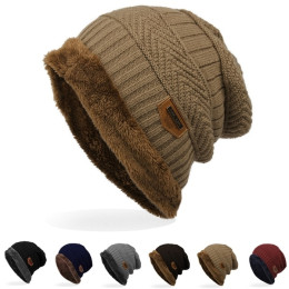 Men's winter super warm Thick Knit Skull Cap