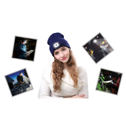 Unisex Winter Hats LED Light-up Headlamp Hats