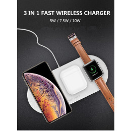 3 in 1 Wireless Charger for Airpods Apple Watch