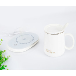 55℃ Warm Cup Thermostat Warm Coasters Milk Preserve Heat Heating Base