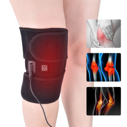 Knee pads adjustable temperature USB electric knee massager heated leg support knee pad with data cable