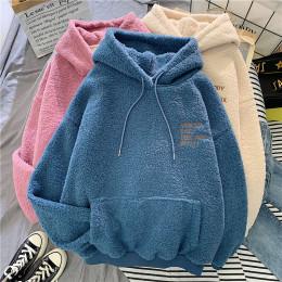 Women Thick Warm Coat Velvet Cashmere Hoody Sweatshirt