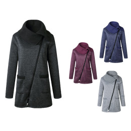 Women Warm Winter Fleece Hooded Parka Coat