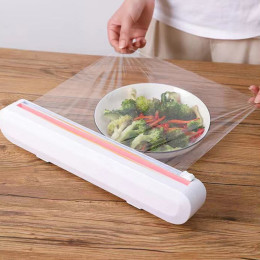 Household plastic wrap cutter