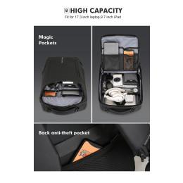 2020 New Anti-thief Fashion Men Backpack Multifunctional Waterproof 15.6 inch Laptop Bag Man USB Charging Travel Bag