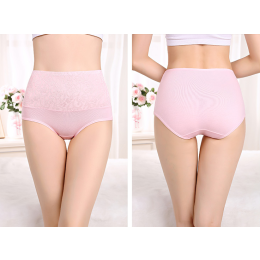 Women Cotton High Waist Breathable Panties Body Shaping Briefs