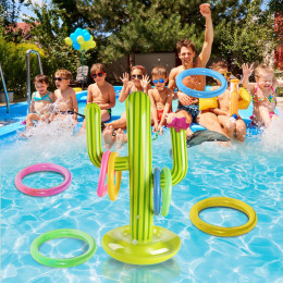 Water park inflatable cactus
