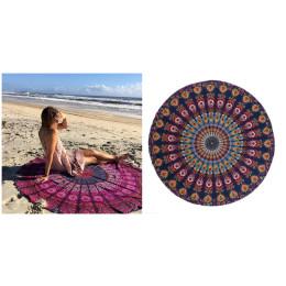 Round Beach Towel Yoga Mat