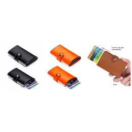RFID protection Automatic Card Holder