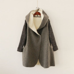 Thick Autumn Open imitation lamb women jacket