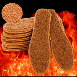 Unisex Soft Winter wool insole Thermal Thickened Warm Shoes Pads