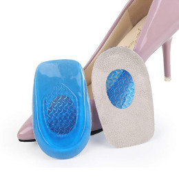 2pair/Pack Silicone Gel insoles heel support cushion relieve foot pain