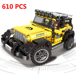 610pcs Building Blocks Fit for Legoinglys Technic Pull Back Jeeped Car Toy
