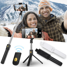 K07 Mobile Phone Holder Tripod Camera With Wireless Bluetooth Remote Self-Timer Rod