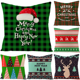 3pcs/Pack Stylish Christmas Printed Pillow Cases