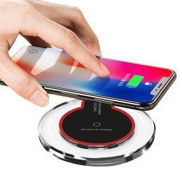 Crystal K9 Wireless Charger Qi Fast Charge Wireless Charging Base Transmitter