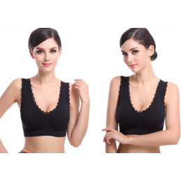Lace seamless sports bra
