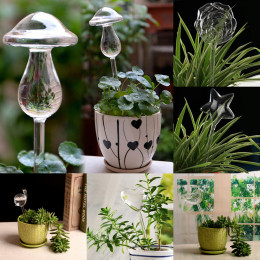Creative lazy glass watering device