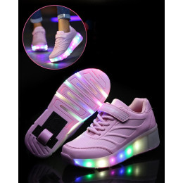 LED Wheels Luminous Roller Sneakers