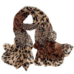 Leopard Printed Shawl Scarves