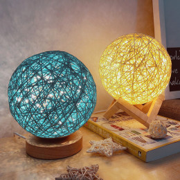 Romantic Rattan Ball Night Light