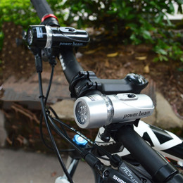 5 LED bicycle front light beam head  flashlight