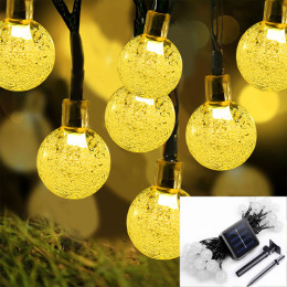 30 LEDs 6M Crystal Ball Solar Lamp for Christmas