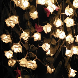10led  20led Battery Operated LED Rose Flower Christmas Holiday String Lights
