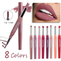 Sexy 2 In 1 Double-ended Lips Makeup Matte Lipstick Long Lasting Waterproof