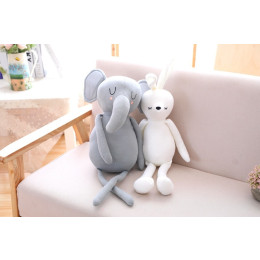 50CM Soft Cotton Long leg Elephant Pillow Plush Toys