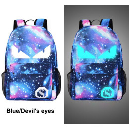 Men Backpack Student Anime Luminous with USB Charge