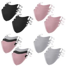 Black Mask Mouth Caps Face Mask Washable Cotton Reusable Masks