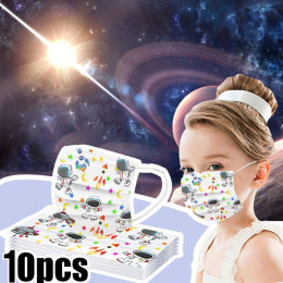 10pcs children disposable mask anti-fog face mask protective mask disposable anti-pollen dust mask