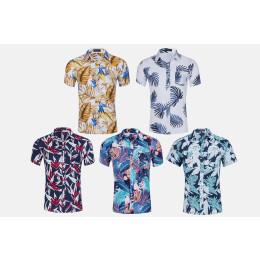 Men's printed short-sleeved shirt