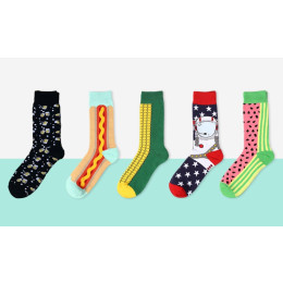 Creative Men's Combed Cotton Socks