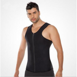 Zipper Neoprene Men's Bodybuilding Clothes Slimming Shapers