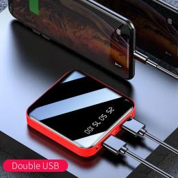 Mini Power Bank Portable Charger LED Mirror Back Power Bank