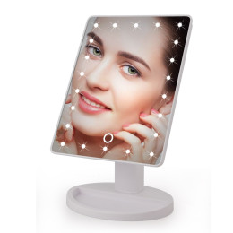 LED Touch Screen Makeup Mirror With 16 LED Lights Angle Adjustable Freely