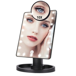 LED make-up mirror with touch screen in black or white
