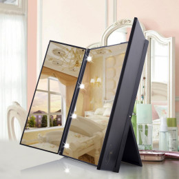 Foldable Tri-sided Led Mirror